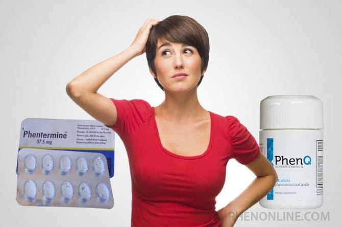 Phentermine vs PhenQ